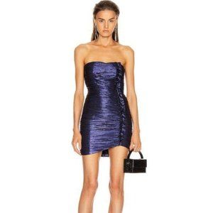 retrofete Adrienne Bodycon Purple Ruffle Dress – S